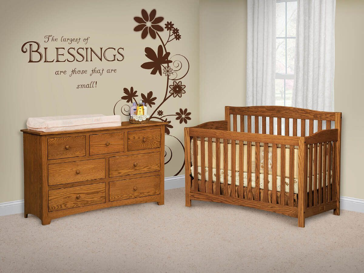 Oak Baby Furniture Set