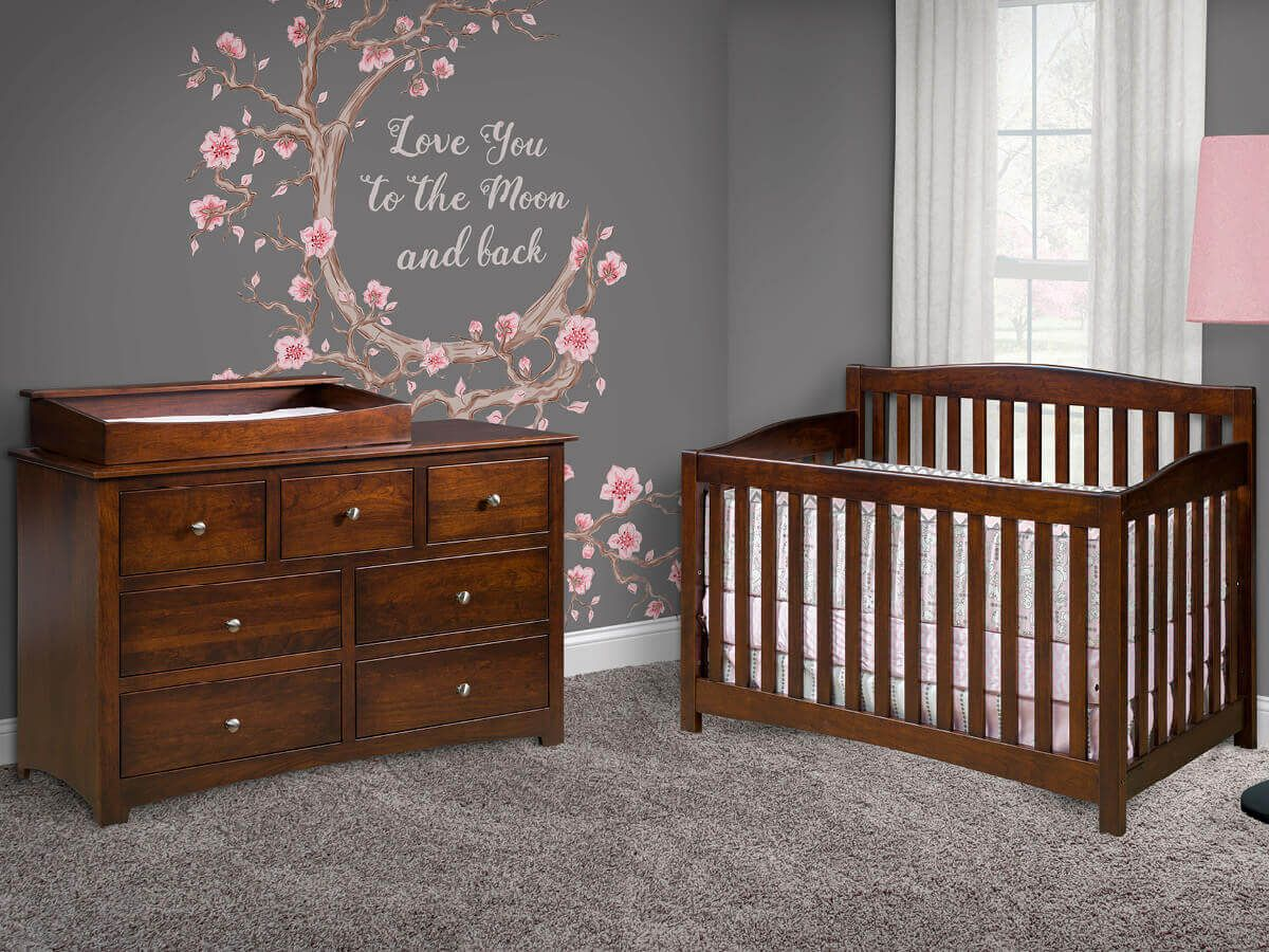 Amish Made Nursery Furniture Set