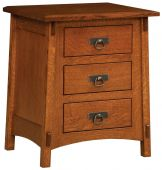 San Marino 3-Drawer Nightstand