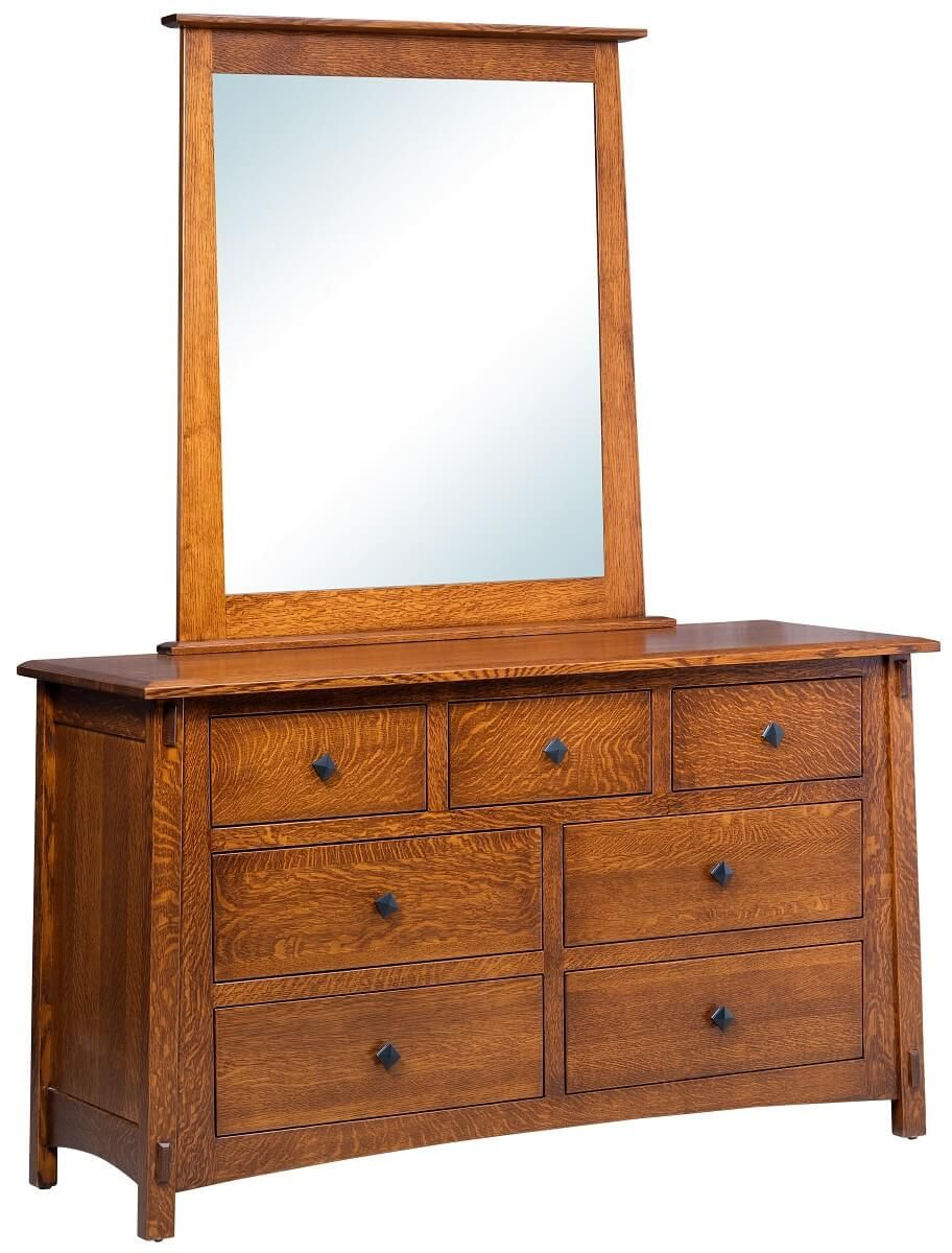 Mission Dresser with Mirror