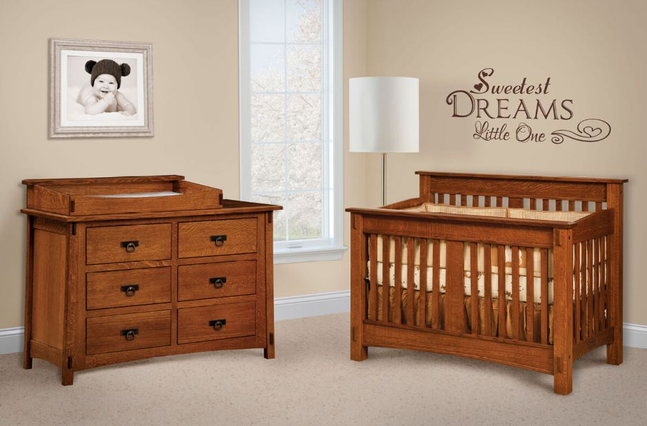 San Marino Wooden Nursery Set Countryside Amish Furniture