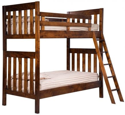 Brown Maple Bunk Bed