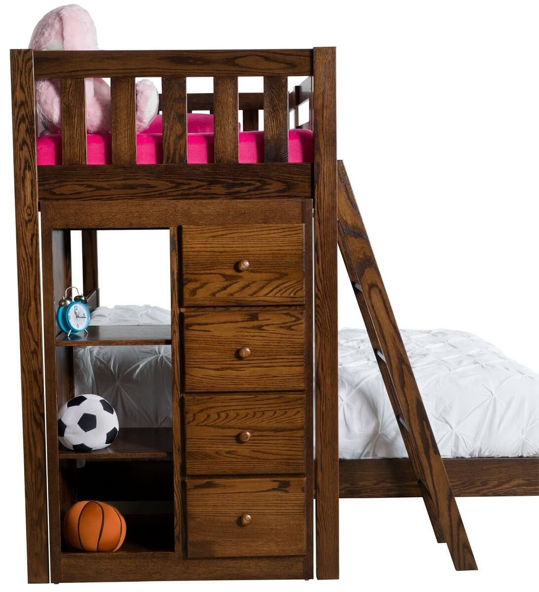 Twin over Full Storage Bunk Beds