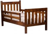 Twin Bed with Guardrail