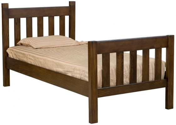 Oak Twin Bed