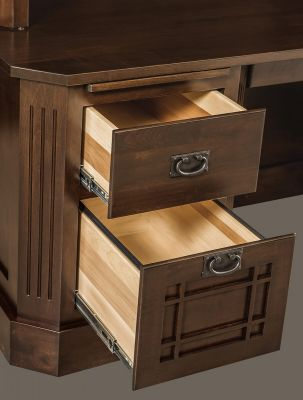 Full extension desk drawers