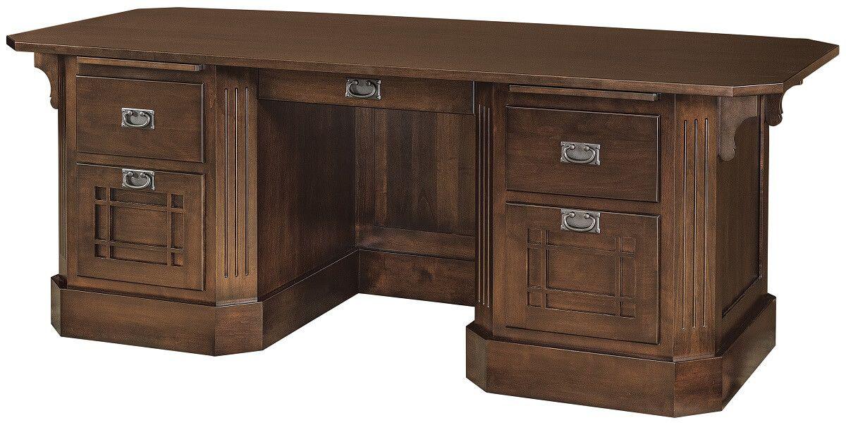 Dearborn Executive Desk in Brown Maple