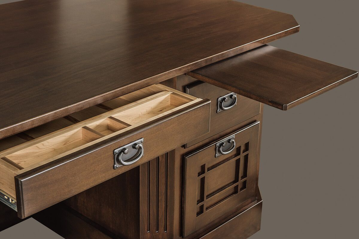 Pencil drawer and writing pullout