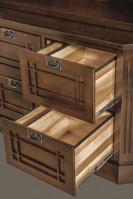 Full extension file drawers