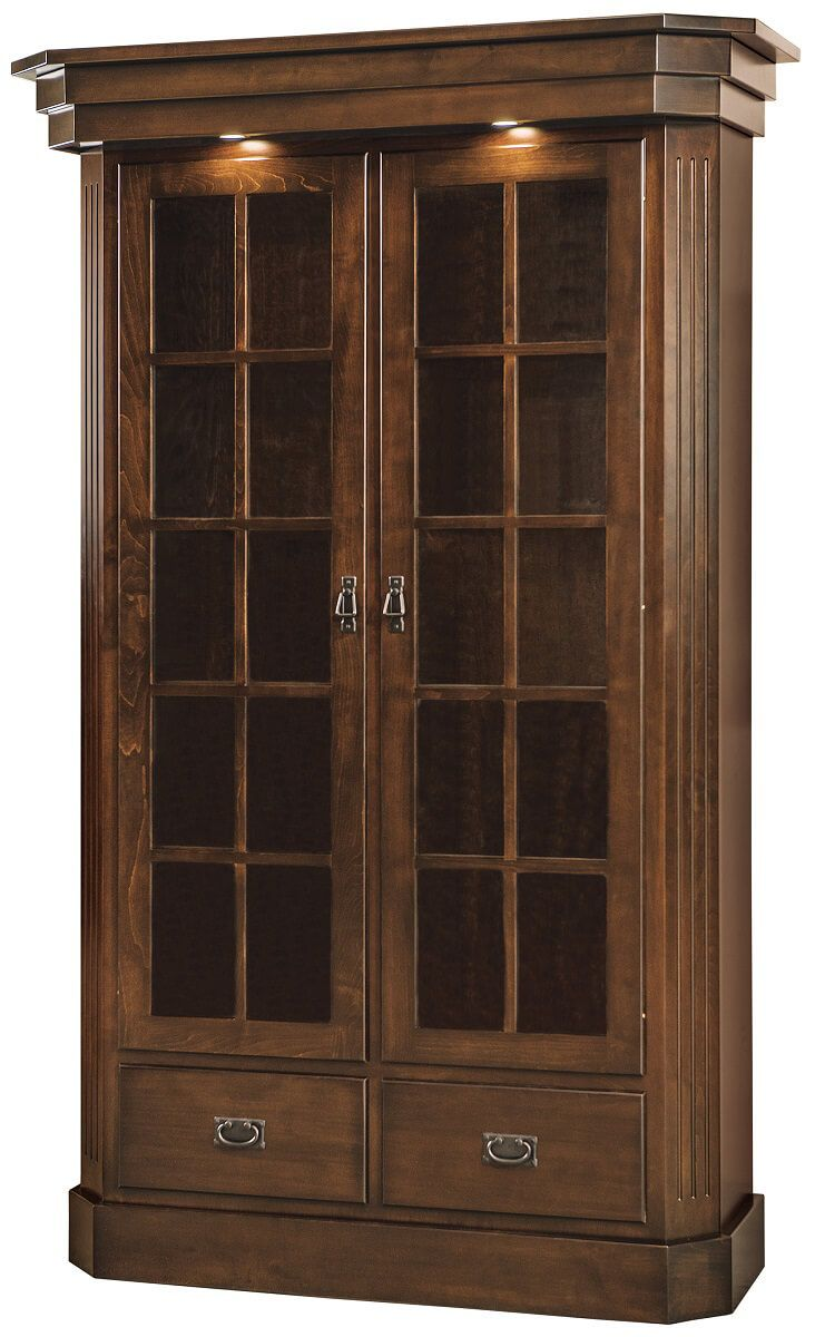 Dearborn Office Display Case with lighting