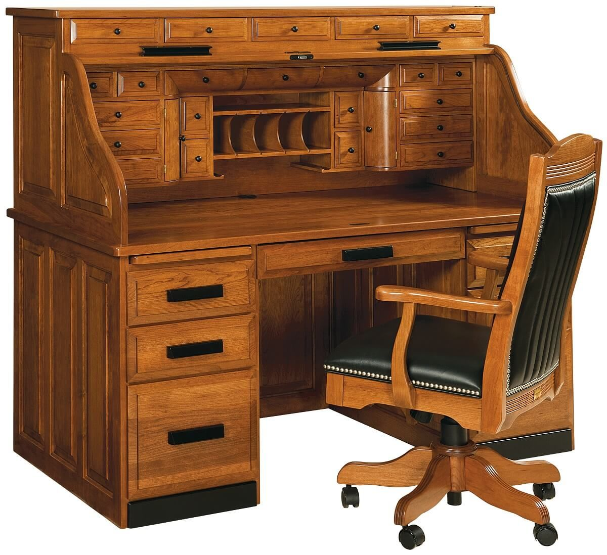 Amish Made Cherry Rolltop Desk