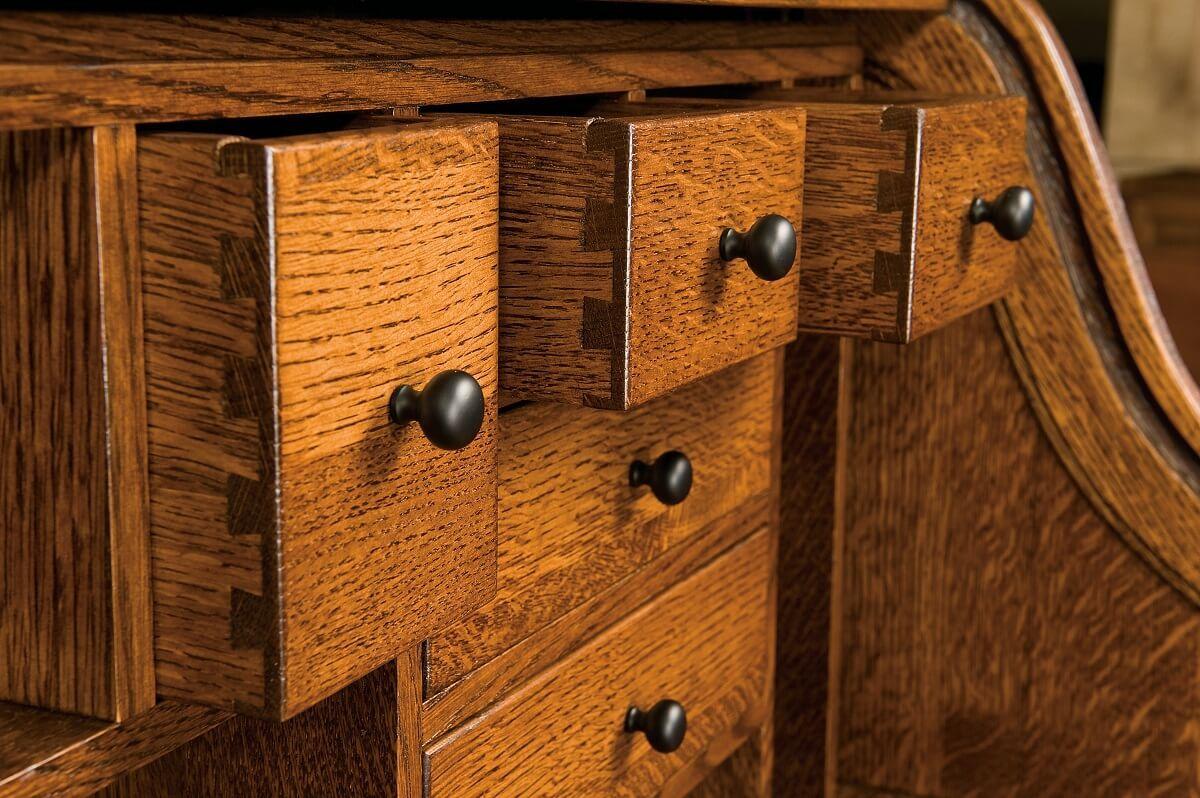 Dovetailed Cubby Desk Drawers