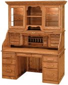 Librarian's Roll Top Desk with Hutch