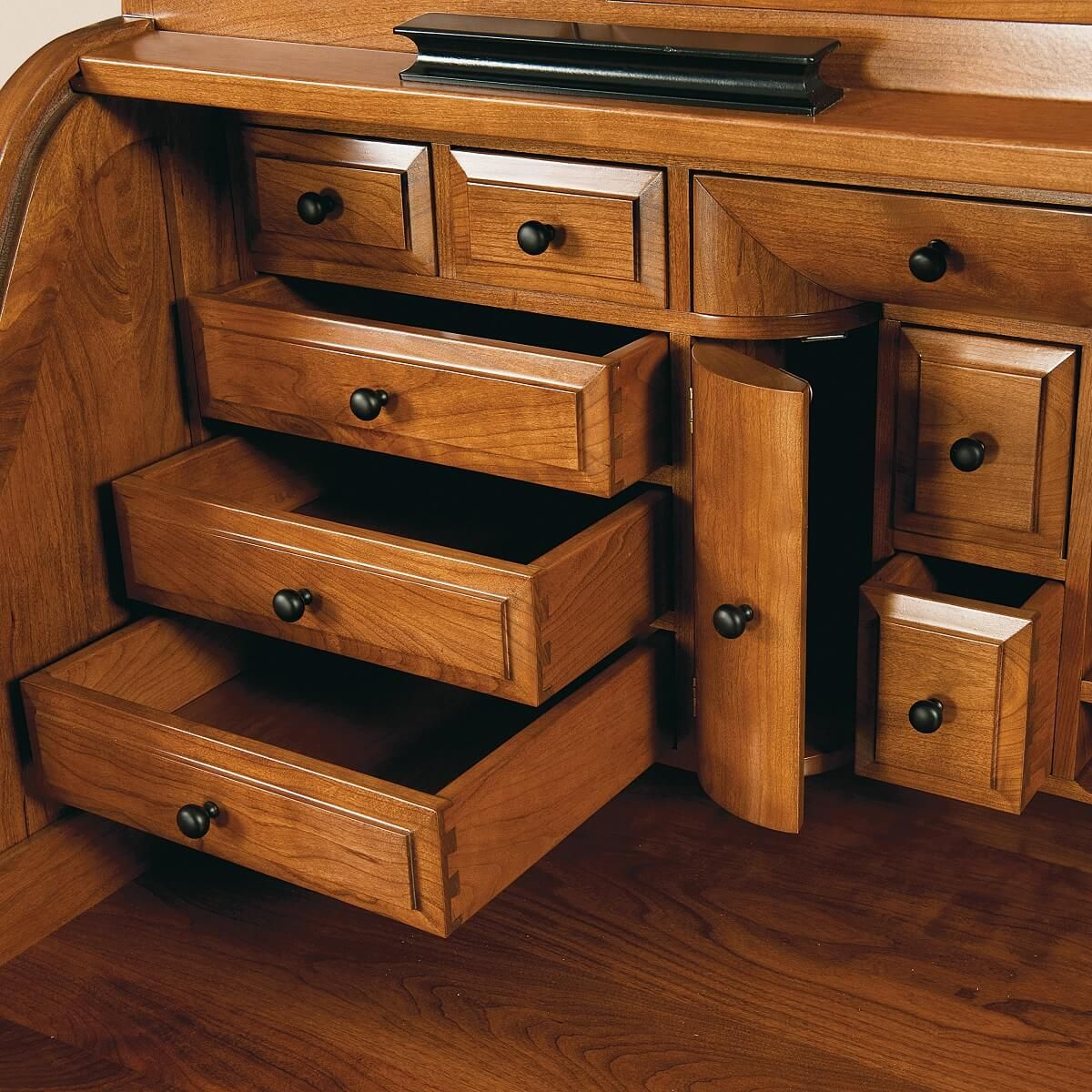 Dovetailed Roll Top Drawers