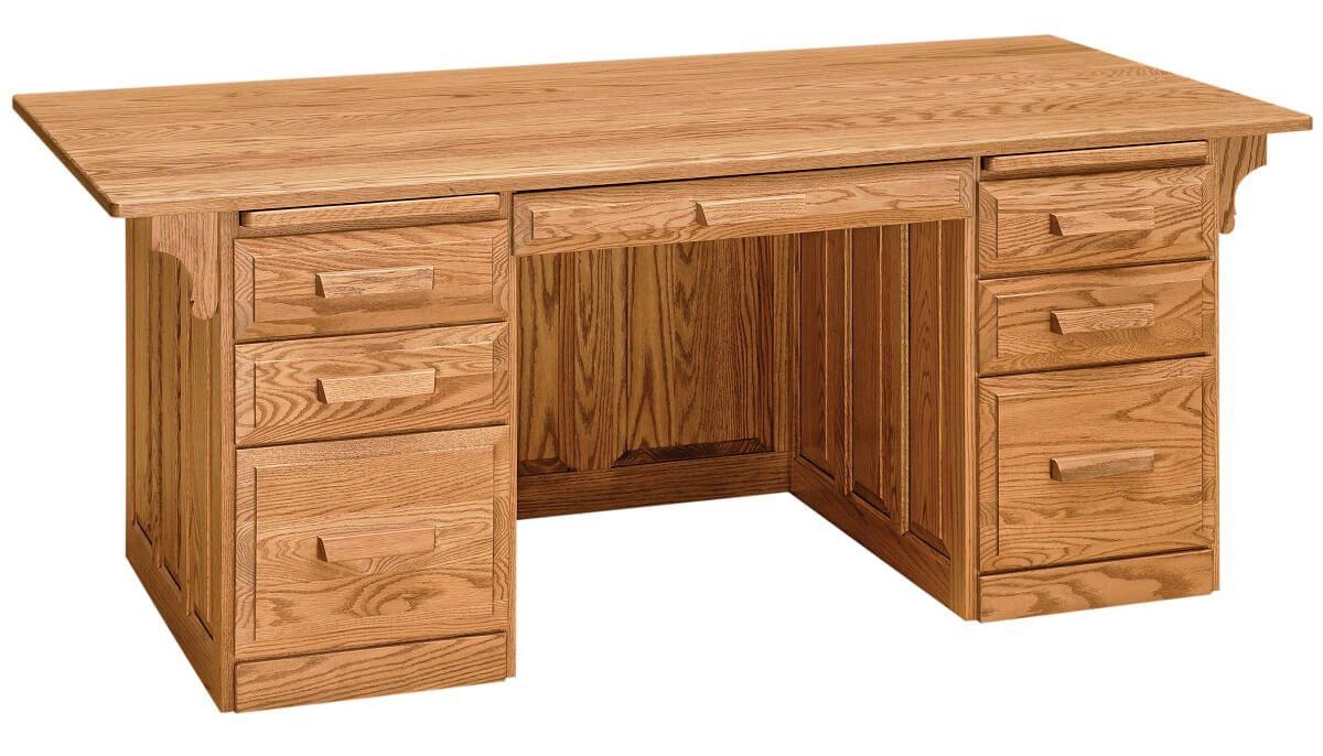 Walden Executive Desk in Oak