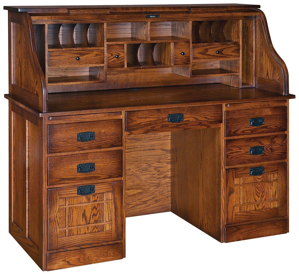 Wordsmith's Roll Top Desk in Oak