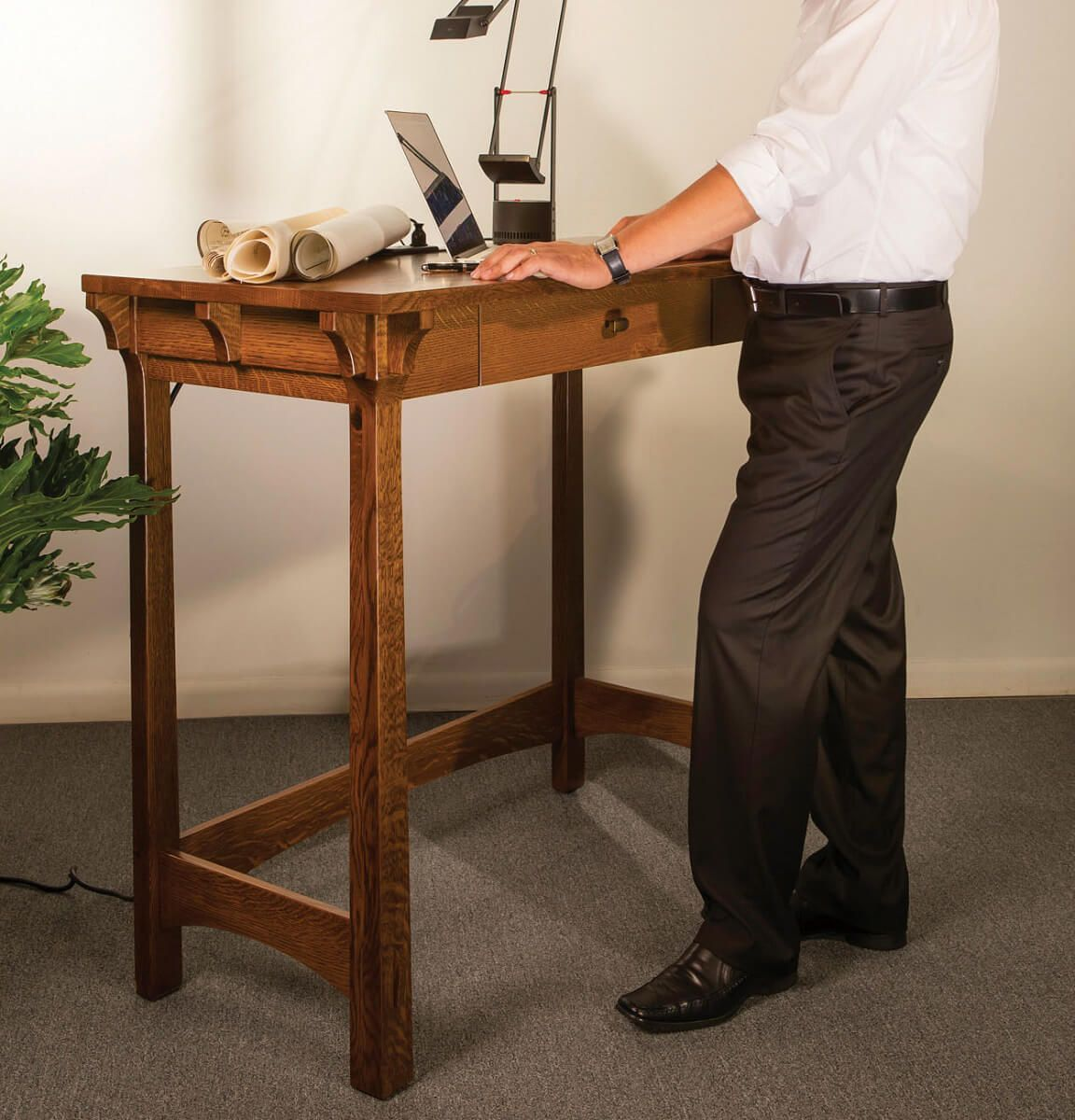 Amish Made Stand Up Desk