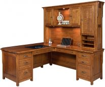 L Shaped Office Desks Corner From Countryside Amish