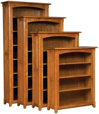 Emory Bookcases in Rustic Cherry