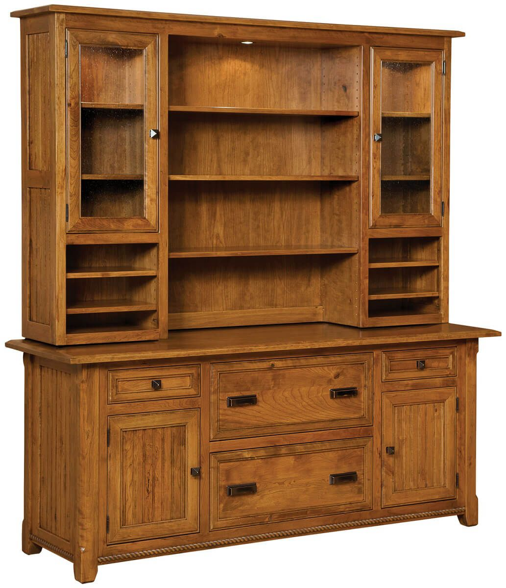Emory Office Credenza with Hutch