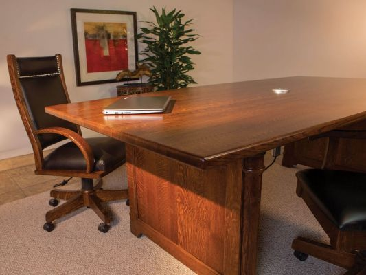 Solid Wood Amish Boardroom Table