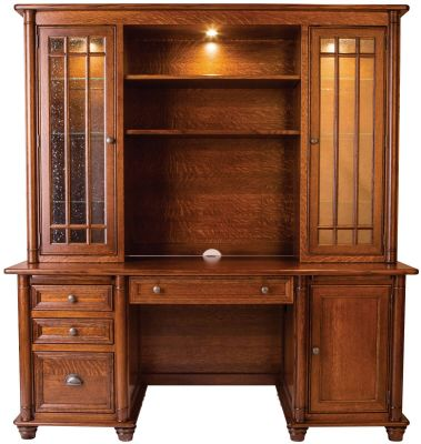 Risley Office Desk with Hutch Top