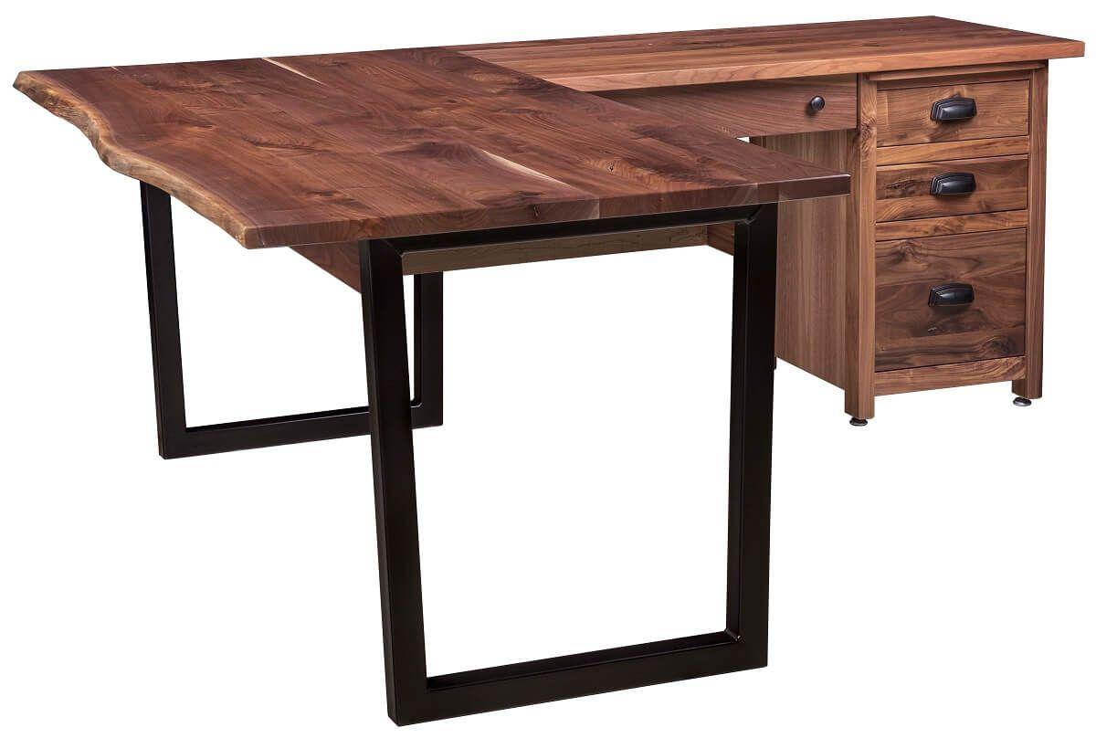 Live Edge Modern Corner Desk