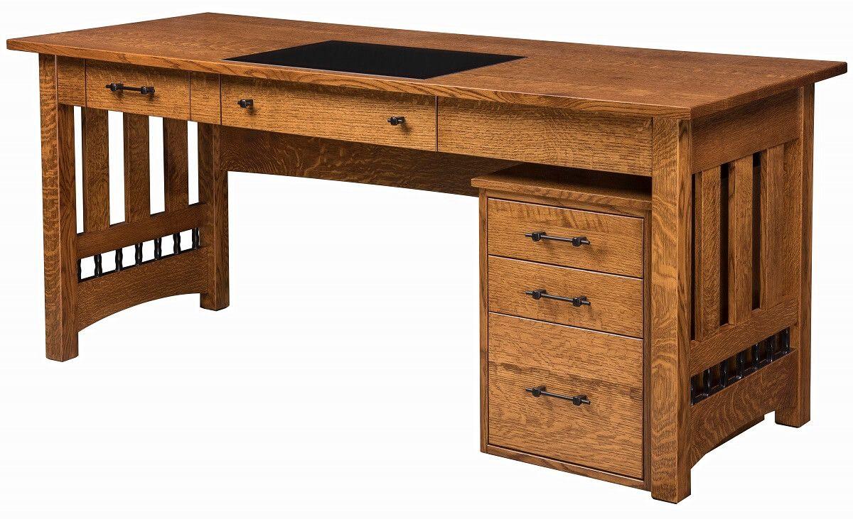 Pottsville Open Desk and File Cabinet