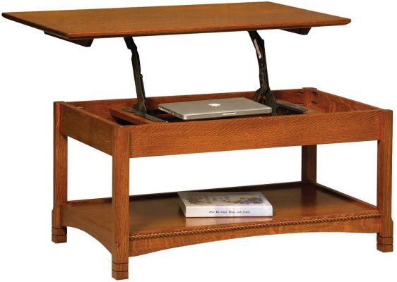 Adrianna Open Lift Top Coffee Table Countryside Amish