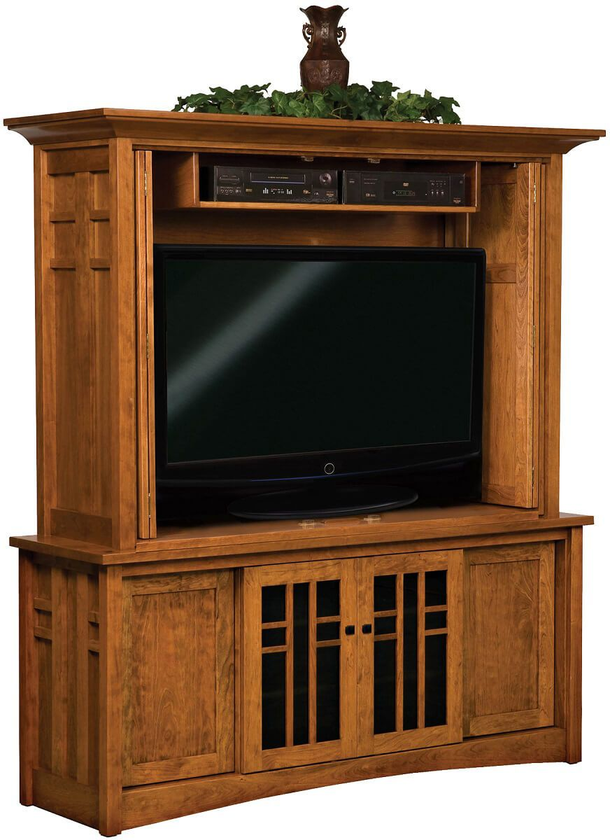 Alvarado TV Cabinet Opened