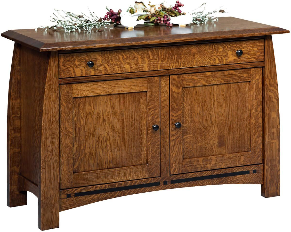 Coronado enclosed console table countryside amish furniture