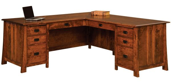 Dresden Corner Desk in Rustic Cherry