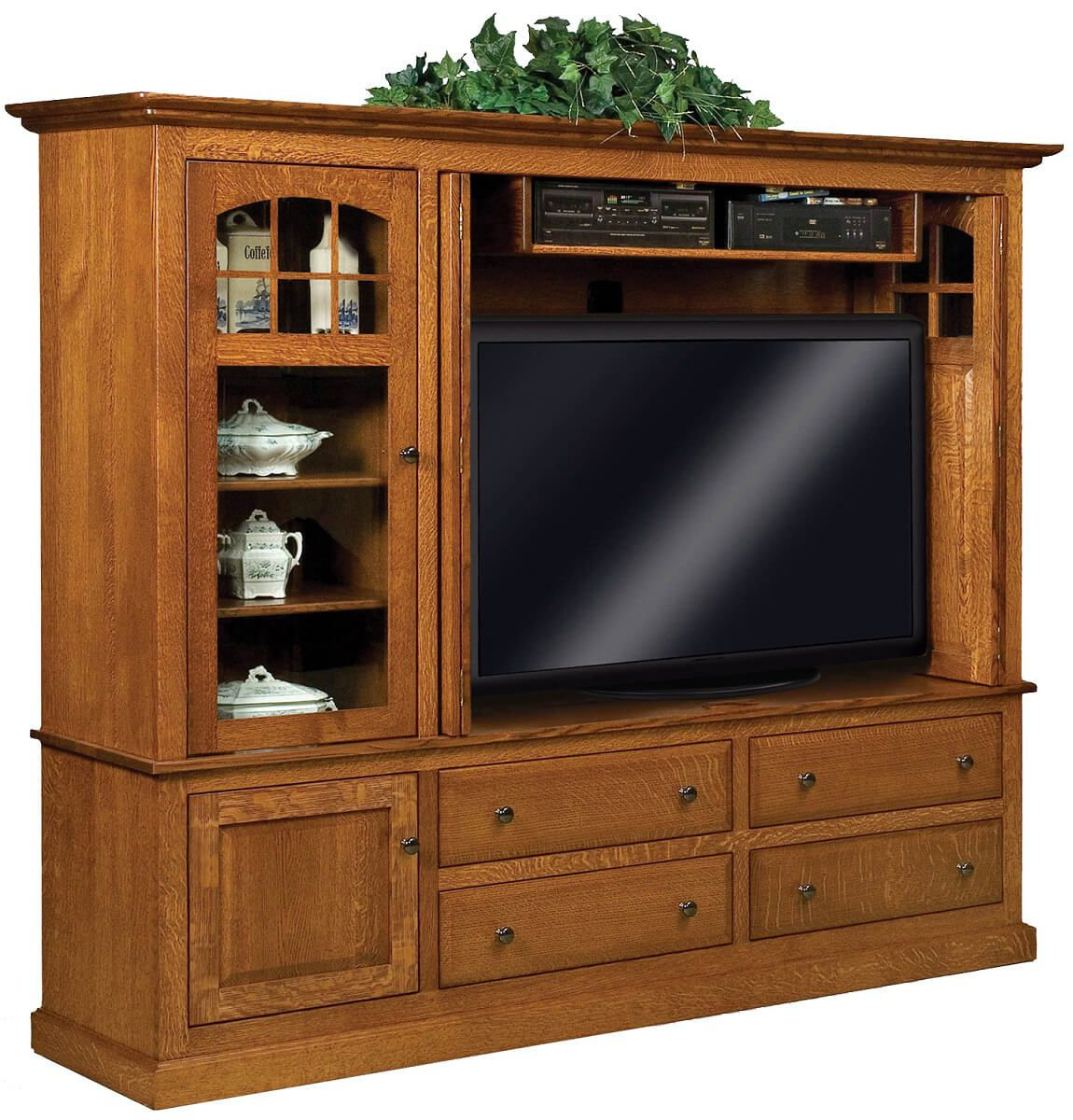 Litchfield Entertainment Center with Storage Opened