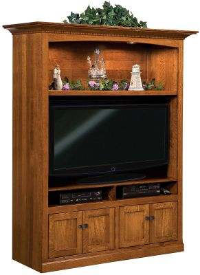 Ridgecrest center entertainment unit countryside amish for Ridgecrest storage units