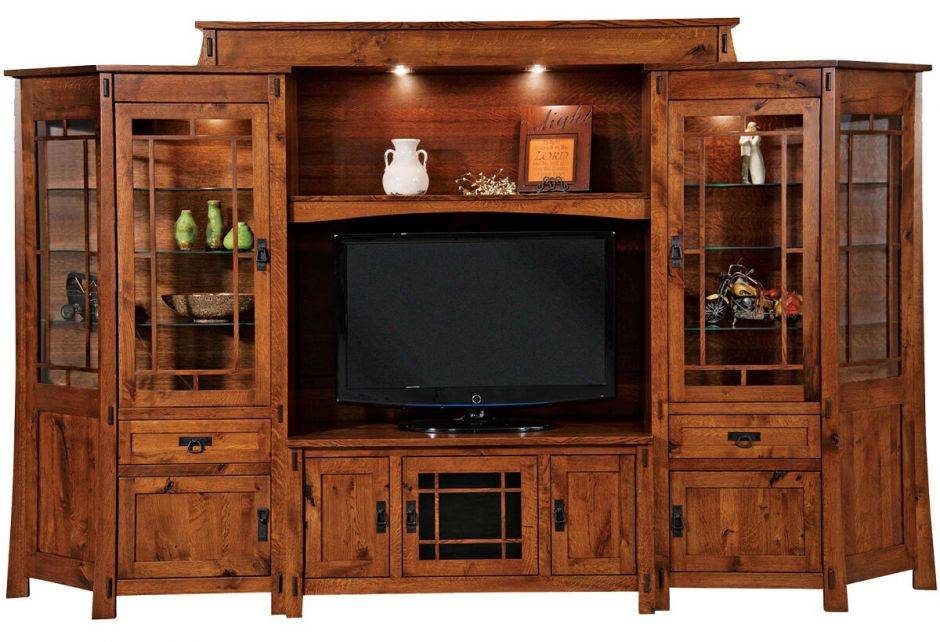 Tahari Large Home Entertainment Center Countryside Amish