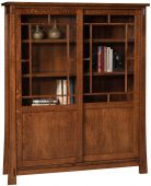 Tahari Sliding Door Bookcase