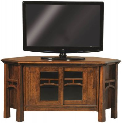 Tahoe Solid Wood Corner Tv Stand Countryside Amish Furniture