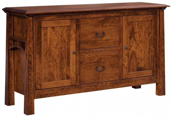 Rustic Cherry Tahoe File Console