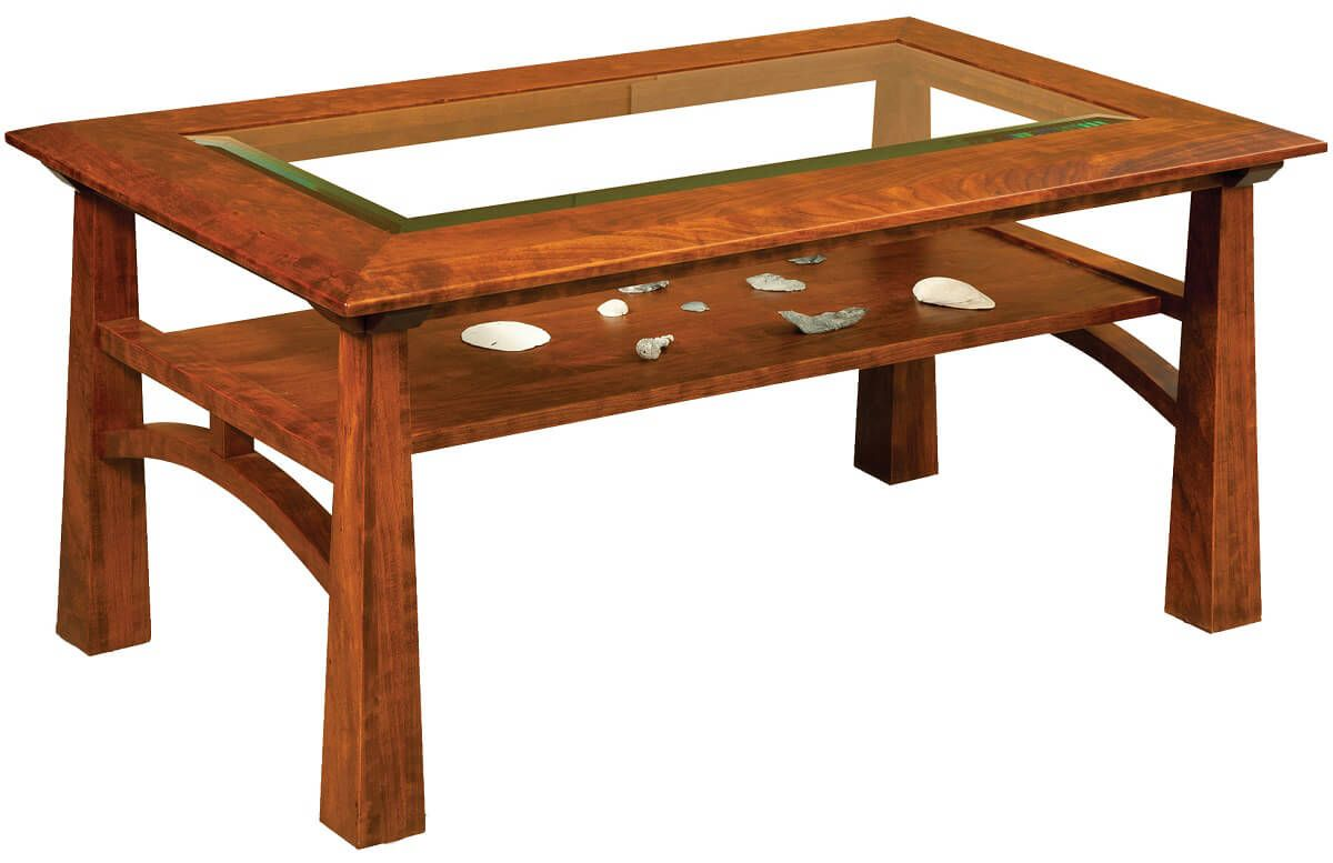 Tahoe Glass Top Coffee Table