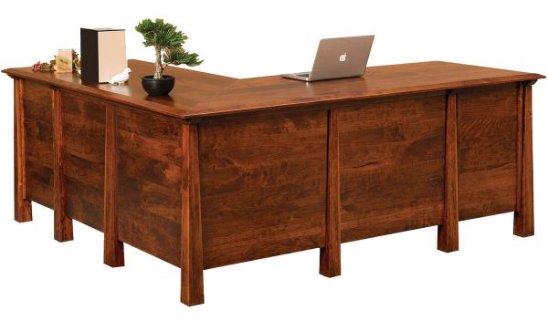Tahoe L Shaped Office Desk Countryside Amish Furniture