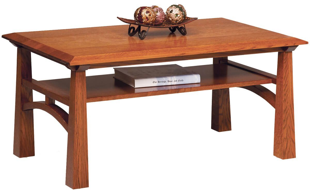 Tahoe Handmade Open Coffee Table Countryside Amish Furniture