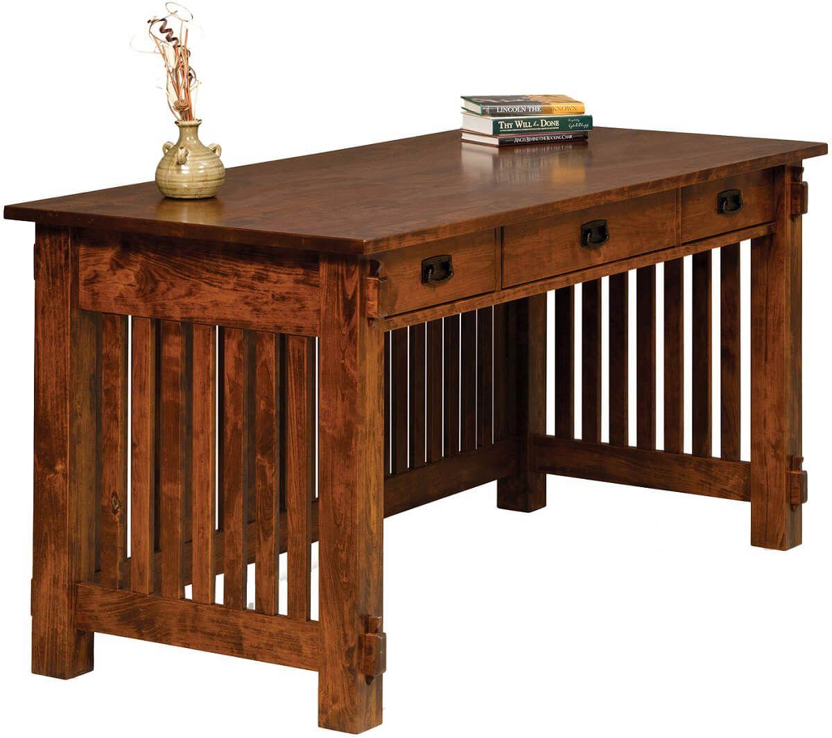 Timken Office Desk in Rustic Cherry