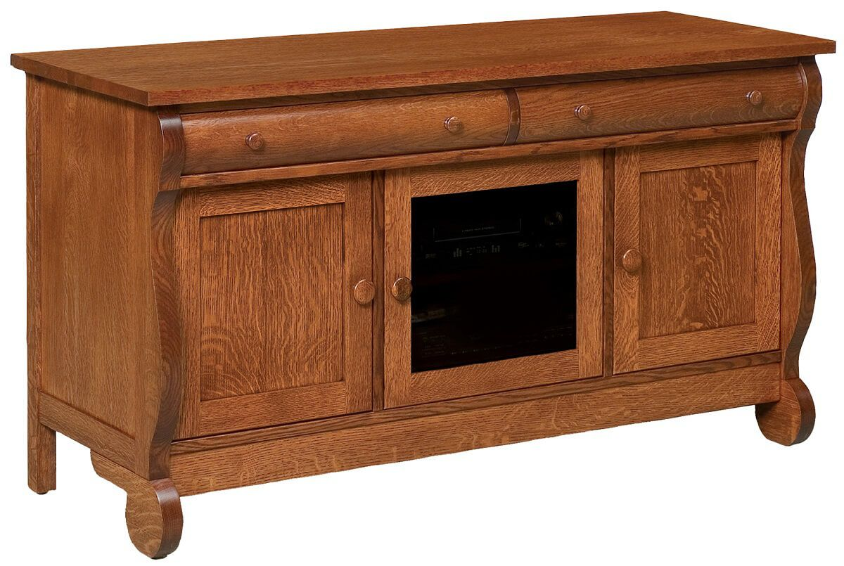 Wyndlot Sleigh 3-Door TV Console
