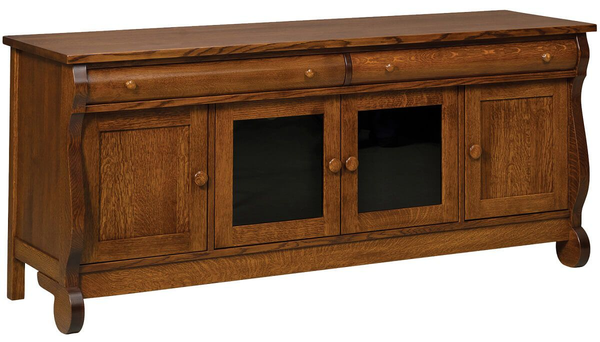 Wyndlot Sleigh 4-Door TV Console