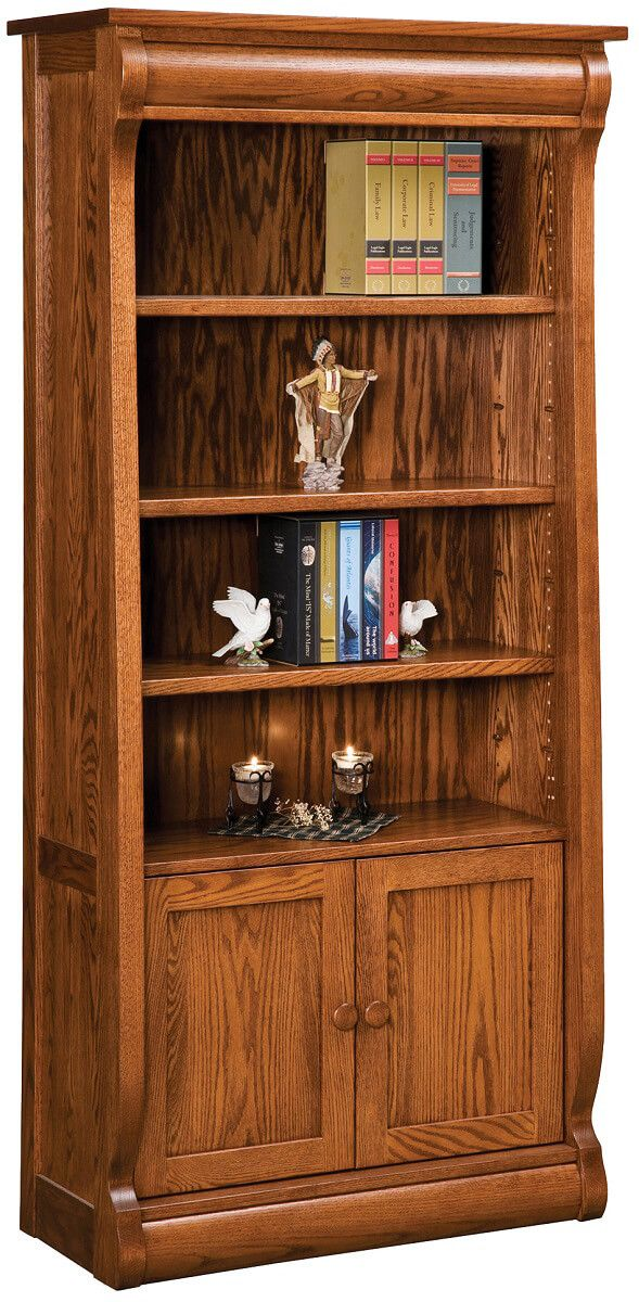 Wyndlot Sleigh Bookcase with Doors