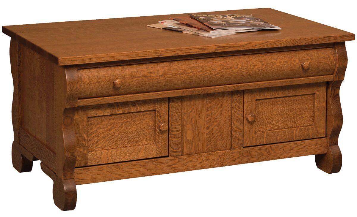 Wyndlot Sleigh Enclosed Coffee Table
