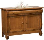 Wyndlot Sleigh Enclosed Console Table