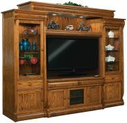 Wyndlot Sleigh Wall Entertainment Center