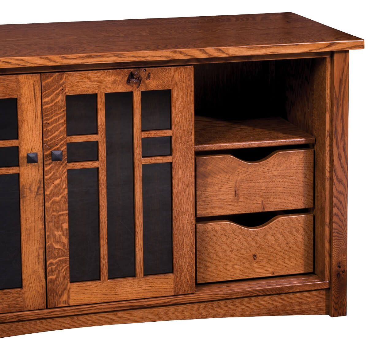 Hidden Media Stand Drawers