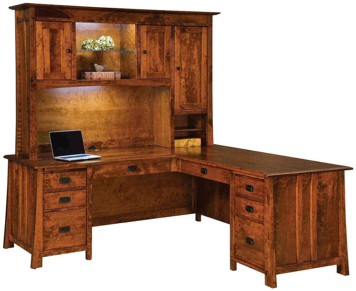 Craftsman Hutch Top Desk